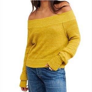 Free People Sugar Rush Off the Shoulder Sweater
